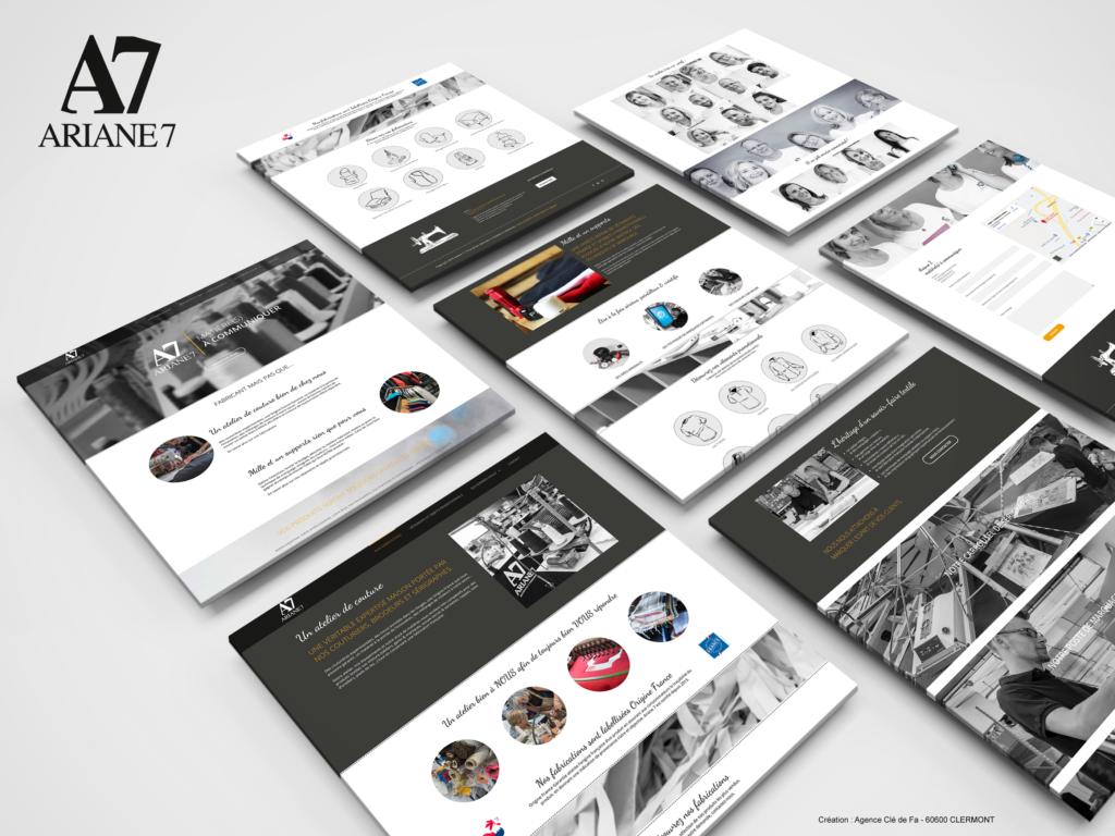 Ariane 7 - Création du site internet et intégration d'un catalogue en ligne