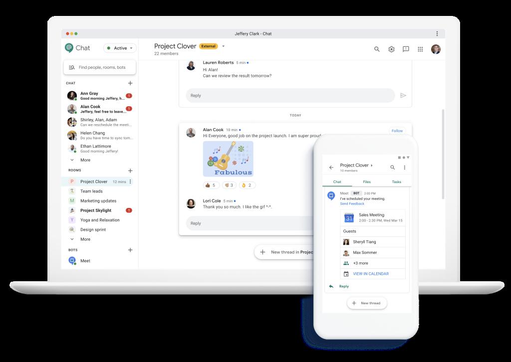 Google Chat - Workspace google fr